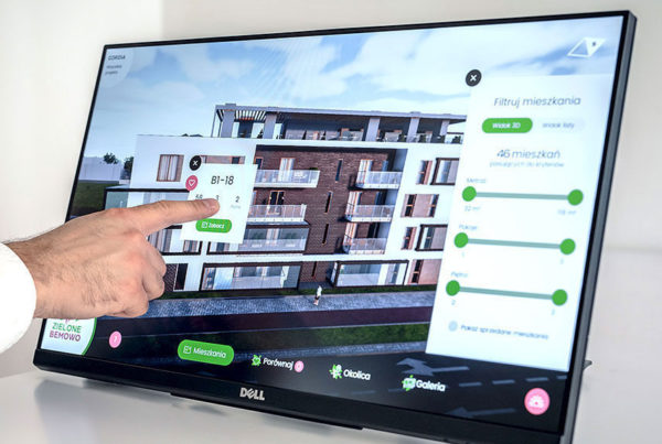 Prezenter 3D ekran dotykowy