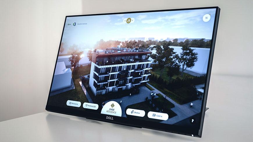 aplikacja prezenter 3d na ekranie dotykowym