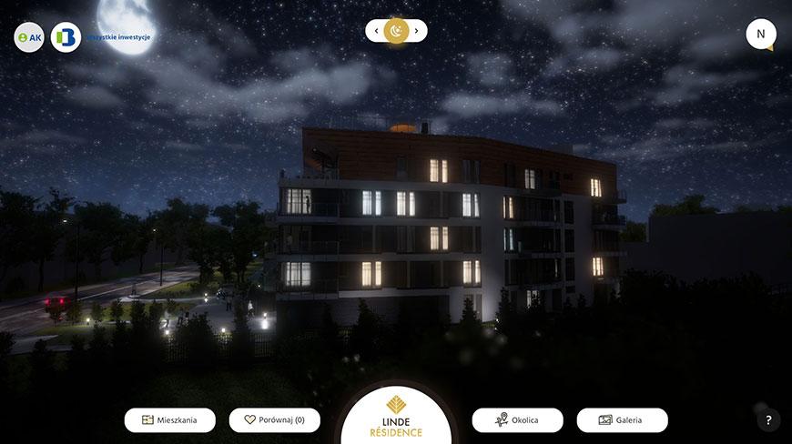 inwestycja nocą w 3D