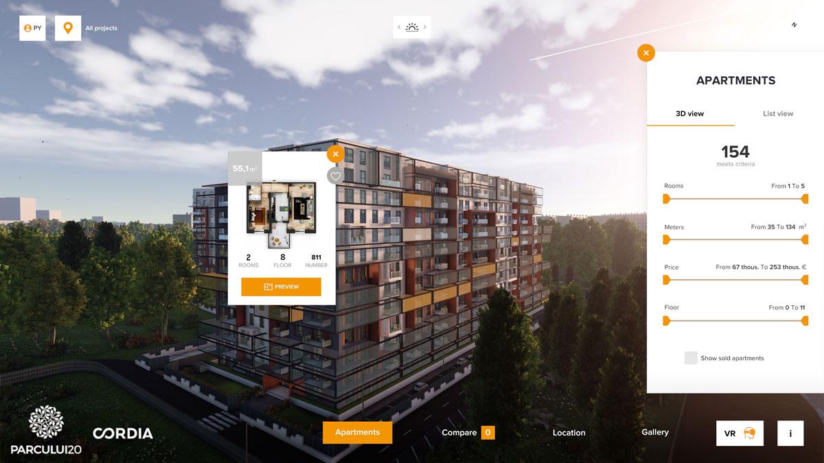 Wyszukiwarka 3D mieszkań