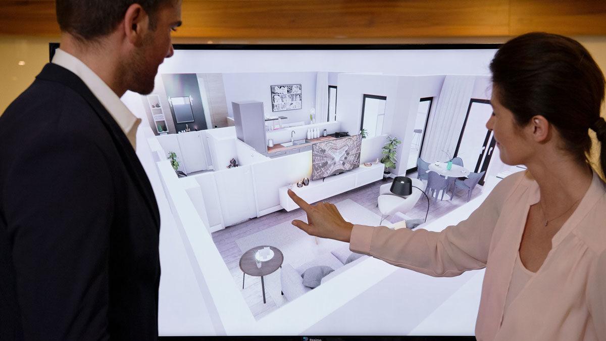Wirtualna makieta Ekran dotykowy