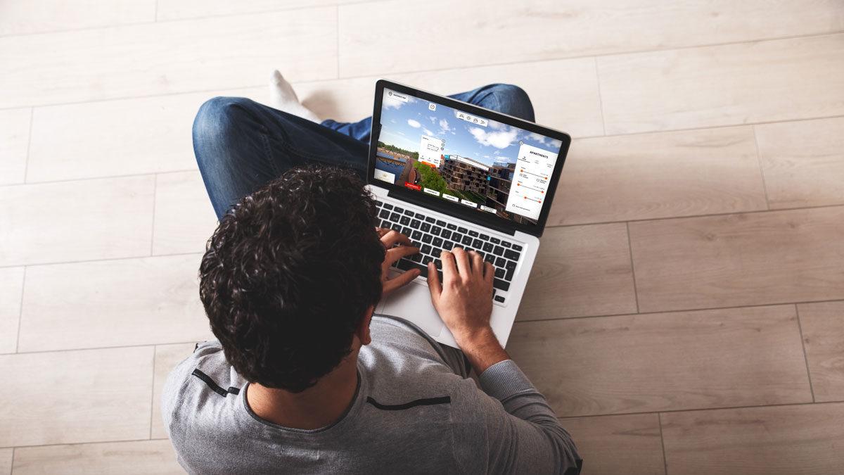 Wirtualna makieta laptop